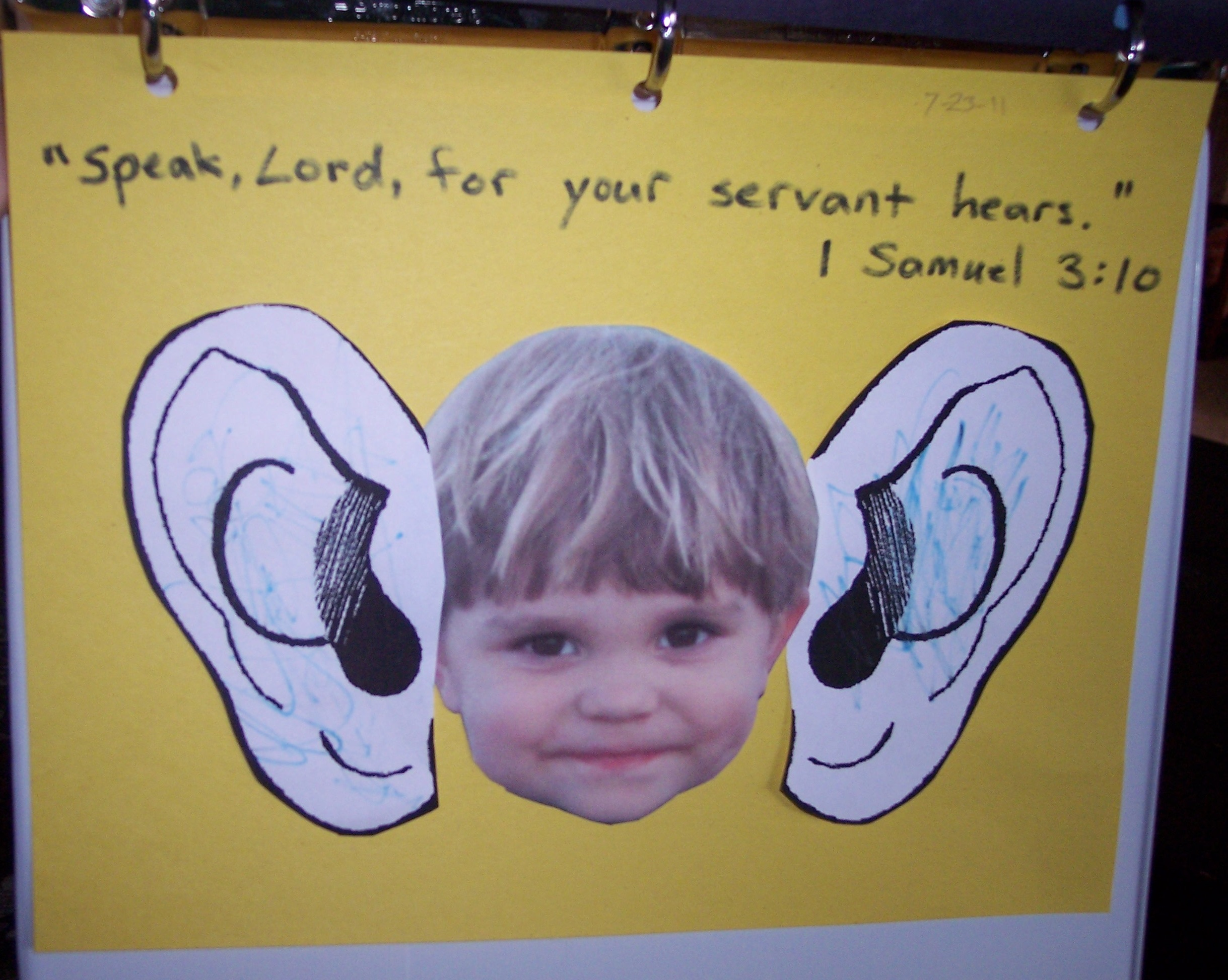 Speak Lord For Your Servant Hears on Learning Activities For 6 Year Old Boy