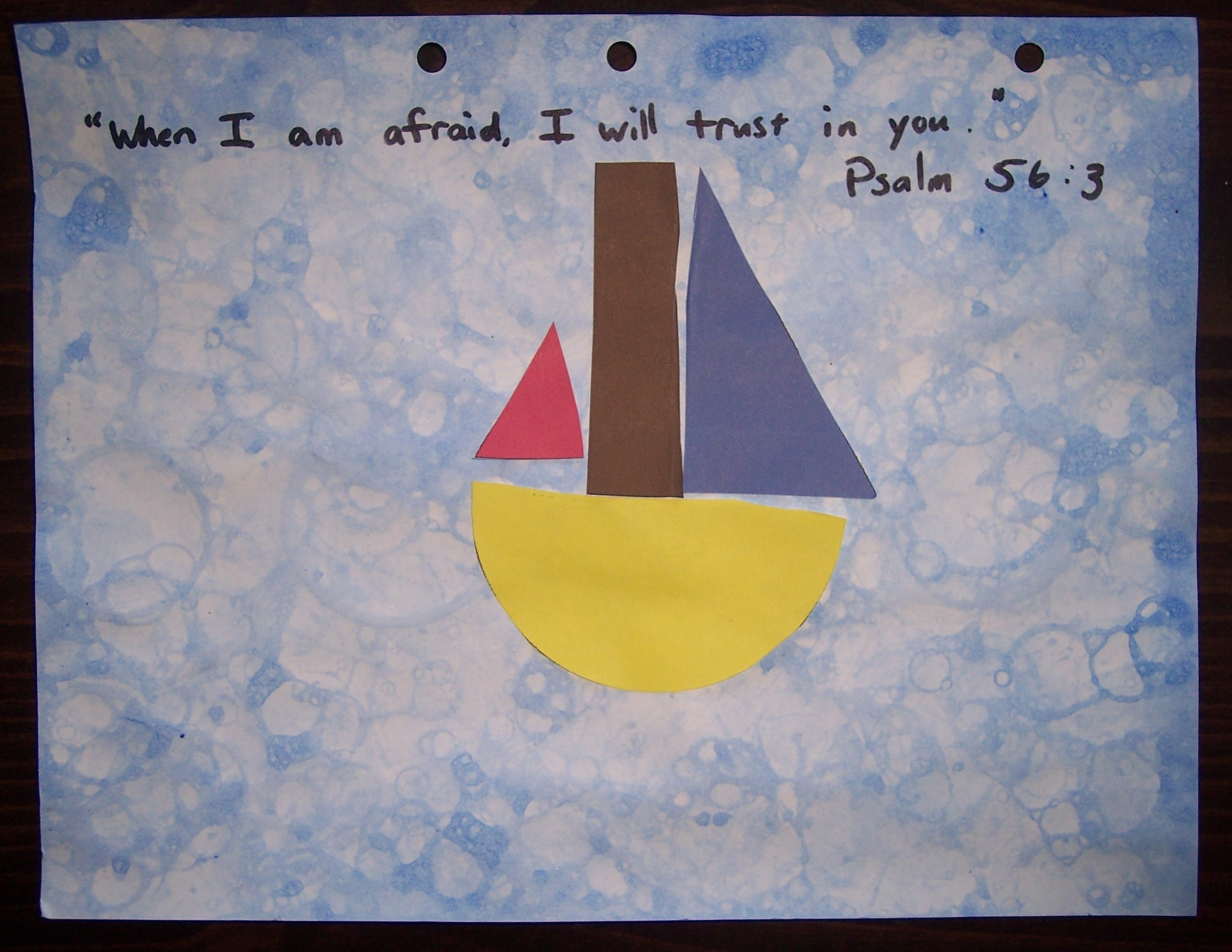 Jesus calms the storm his treasure seekers for Peace crafts for sunday school
