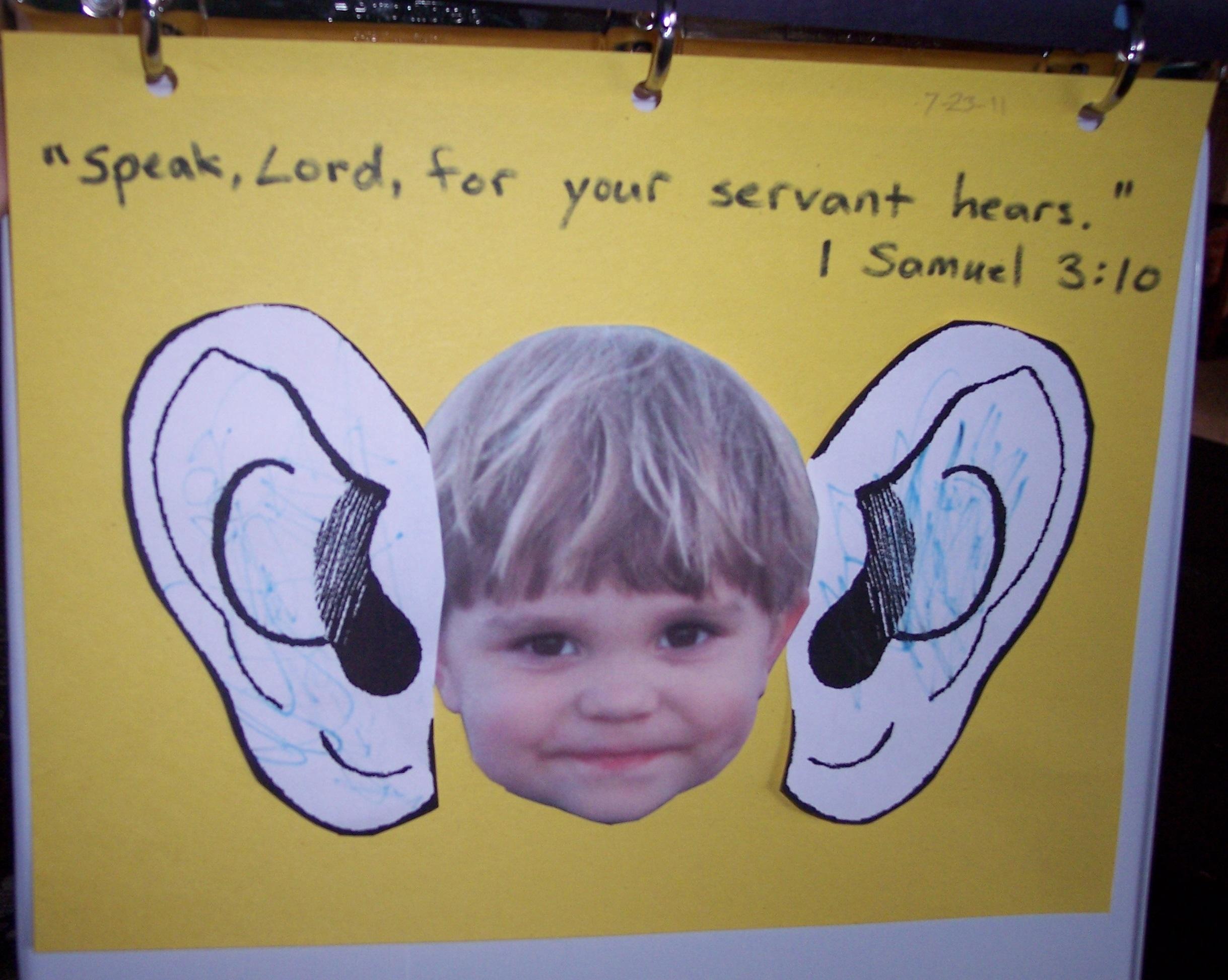 Speak, Lord, for your servant hears!   His Treasure Seekers